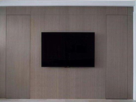 隐形门电视背景墙 隐形门装修效果图