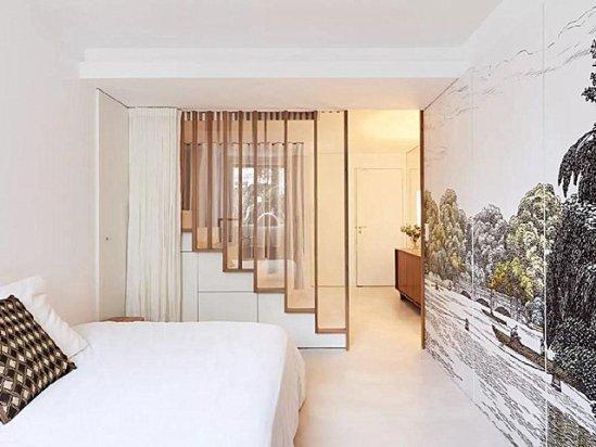 卧室背景墙 卧室门正对着楼梯口的解决办法