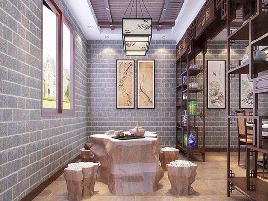 中式茶馆装修效果图 农村住房设计图