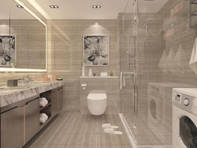 卫生间装修效果图2020新款 卫生间防滑垫