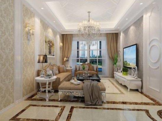 客厅效果图 客厅地面瓷砖造型效果图大全