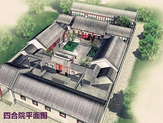 四合院效果图2020 北京三进四合院平面图