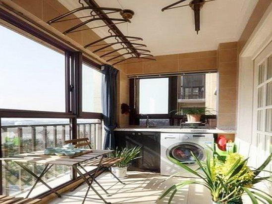 阳台推拉门 房子就一个阳台怎么设计挂衣服