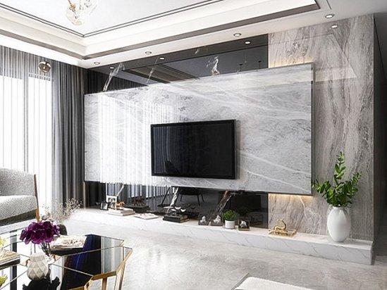 电视墙设计 现代简约电视墙造型2020新款