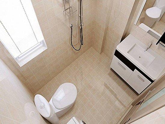 卫生间装修图 长方形的小卫生间装修效果图