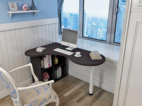 卧室装修效果图欣赏 弧形转角电脑桌效果图