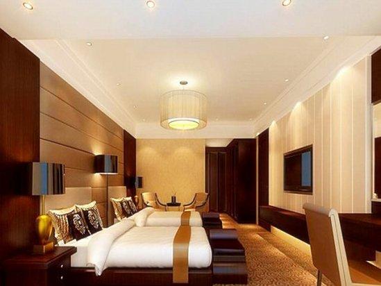 酒店客房设计 宾馆房间设计效果图2020图片