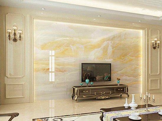 石材背景墙 微晶石电视背景墙图片效果图