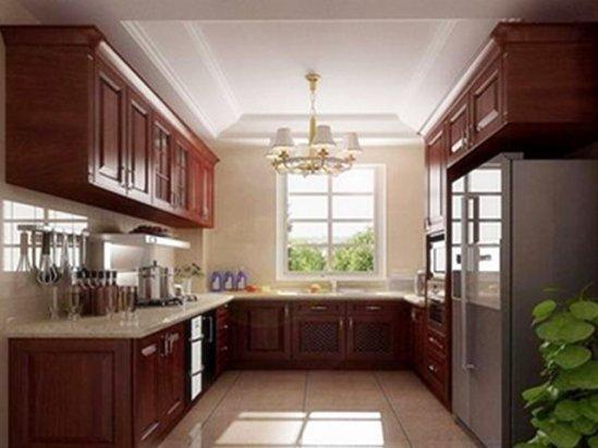 水龙头安装 美式田园风格厨房装修图片大全