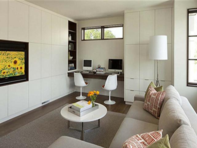 别墅装修设计图 如何将客厅改成书房活动室