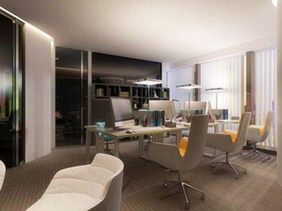 花架效果图 武汉办公室装修设计2021图片