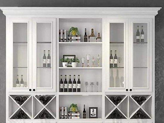 众里佰都 灰色和白色搭配的酒柜效果图大全