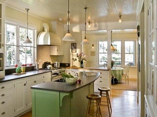 瓷砖美缝 开放式厨房装修效果图大全2021图片