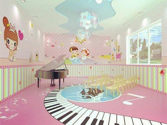 幼儿园装修设计 幼儿园音乐教室布置设计图片