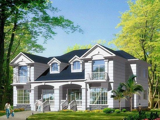 别墅小花园设计 新农村房屋设计效果图大全
