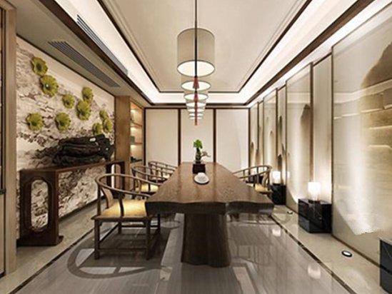 新中式风格别墅装修效果图 新中式别墅设计