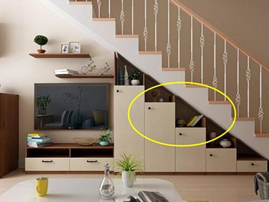 【烟台二手房信息】楼梯下面柜子造型图片小户型