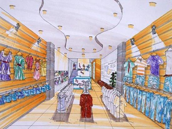 根雕图片大全 服装店展示设计手绘效果图