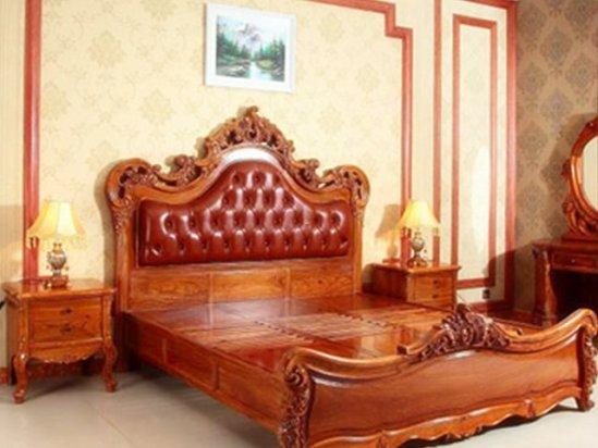 【装修墙纸图片】红木古典家具床的图片欣赏