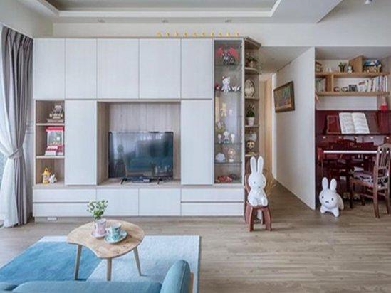 别墅设计案例 110㎡北欧风格新房装修案例