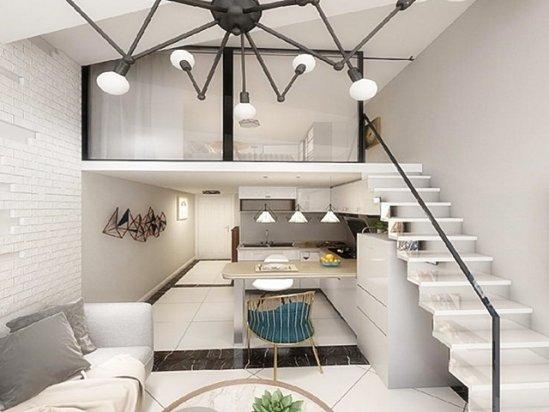整体橱柜图片 单身公寓装修效果图30平米