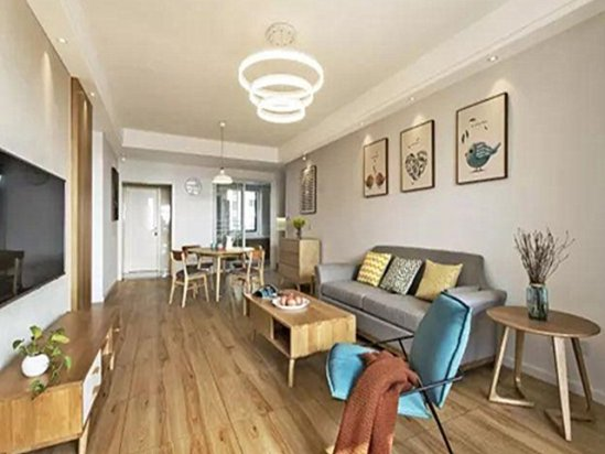 北欧装修案例 78平米两室一厅装修效果图