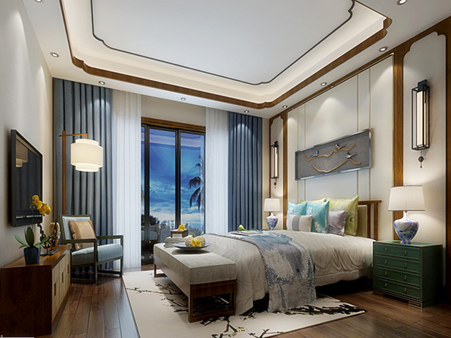 【中式书房】新中式客厅装修特点及注意事项