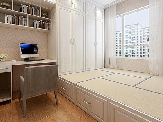 【胶南装修网】卧室窗台下面的柜子设计图