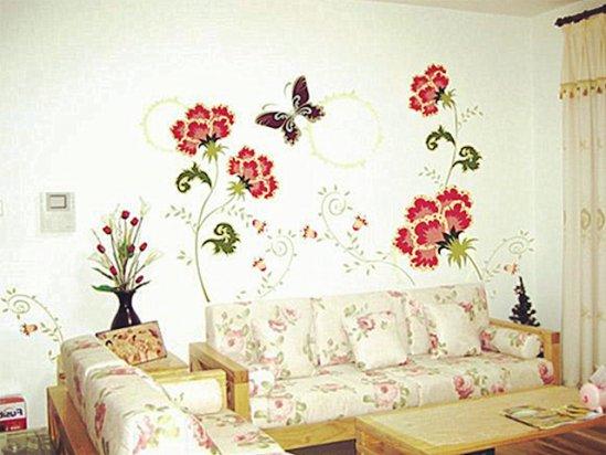 【手绘背景墙效果图】手绘背景墙图案大全图片