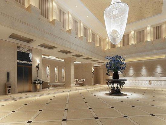 【饭店装修效果图】宾馆大堂装修效果图片