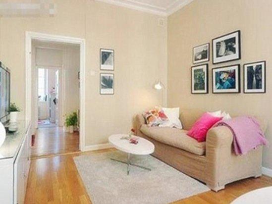 【小客厅装修效果图】65平两室一厅装修图片