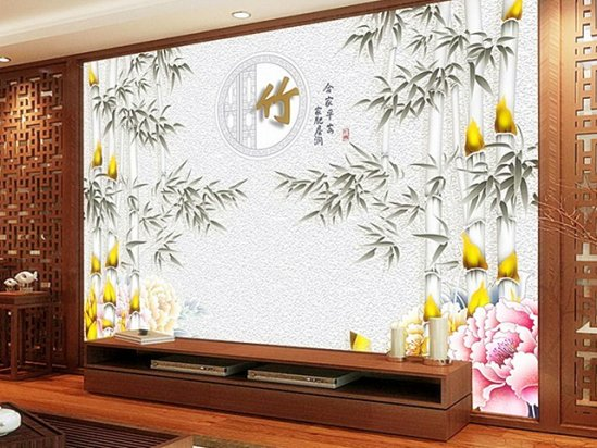 【手绘电视墙效果图】手绘背景墙图案大全图片