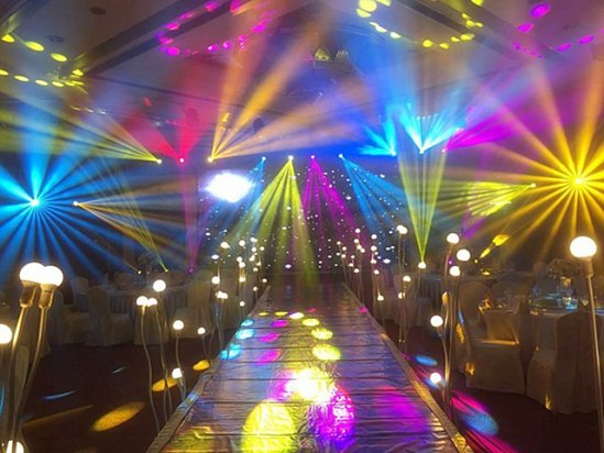 【舞台灯光设计】婚宴大厅舞台灯光效果图