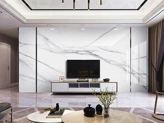 【电视墙设计图纸】轻奢风格电视背景墙装修图片