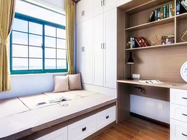 榻榻米床柜一体效果图 榻榻米床柜一体化装饰