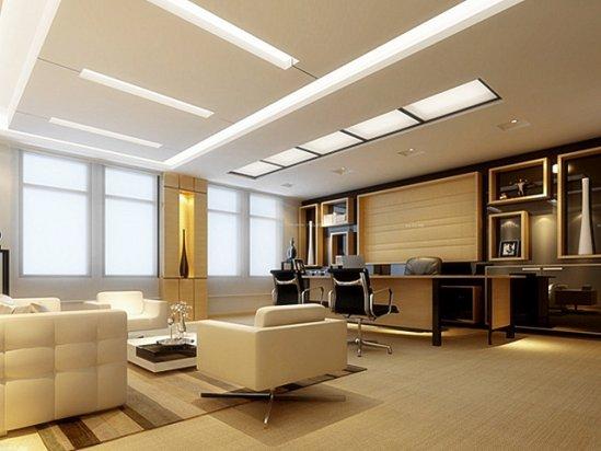 办公室装修实景图 办公室内装修效果图大全