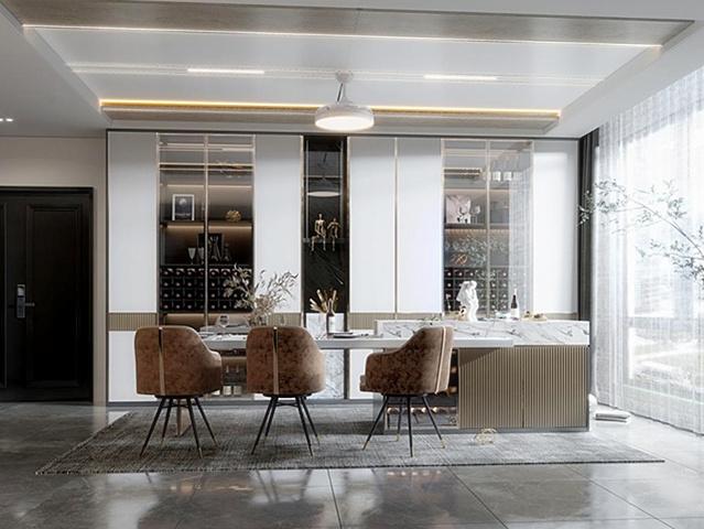 餐厅装饰设计 餐厅装修效果图2021新款推荐