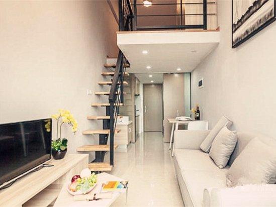 窗帘布艺效果图 公寓房装修效果图50平