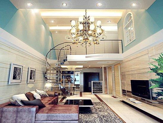 复式楼装修效果图 家装室内设计效果图