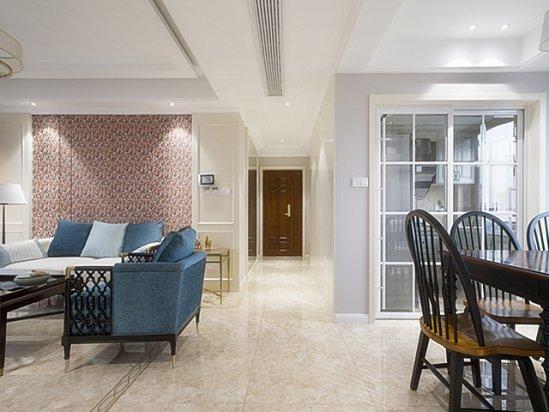家装墙纸图片 三室一厅100平米装修效果图