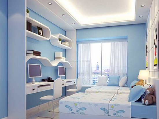 儿童房间设计 绿色儿童房装修效果图大全